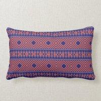 Blue and Orange Southwestern Design Pillow   Zazzle