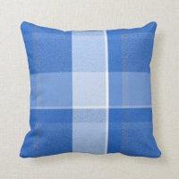 Blue and White Plaid Throw Pillow | Zazzle