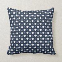 Blue And White Stars Throw Pillow | Zazzle
