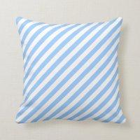 Blue and White Stripes. Throw Pillow | Zazzle