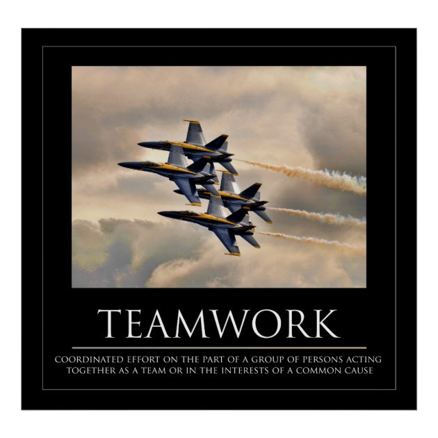 Blue Angels Teamwork Poster Zazzle Com
