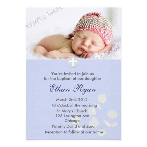 Christening Invitation Baby Boy