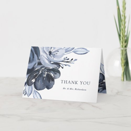 Blue Bouquet | Watercolor Floral Thank You
