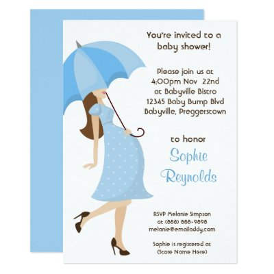 Modern Mom Boy Baby Shower Invitation