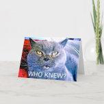Blue Cat 60th Birthday Card
