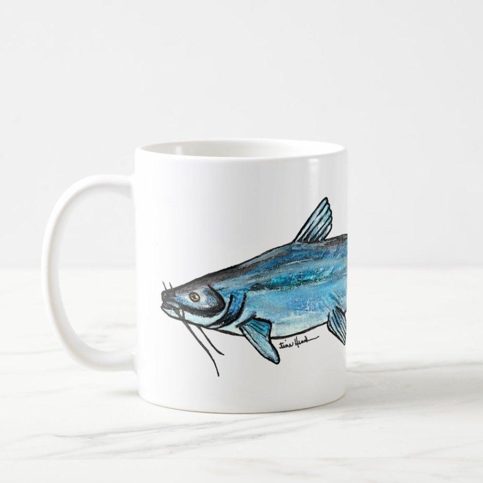 Blue Catfish Coffee Mug