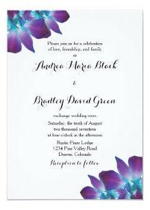 Orchid Wedding Invitations Stationery Zazzle