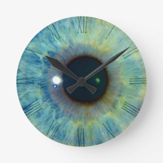 Blue Eye Wall Clocks