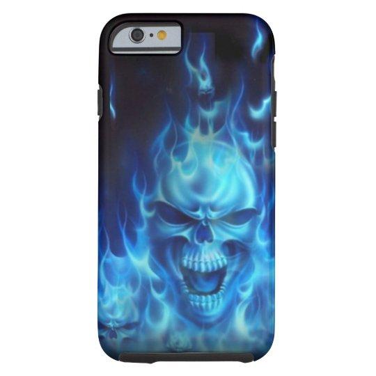 blue fire skull case