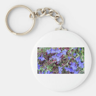 Blue Flower in California Keychains