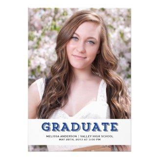 Blue Graduate Senior Portrait
