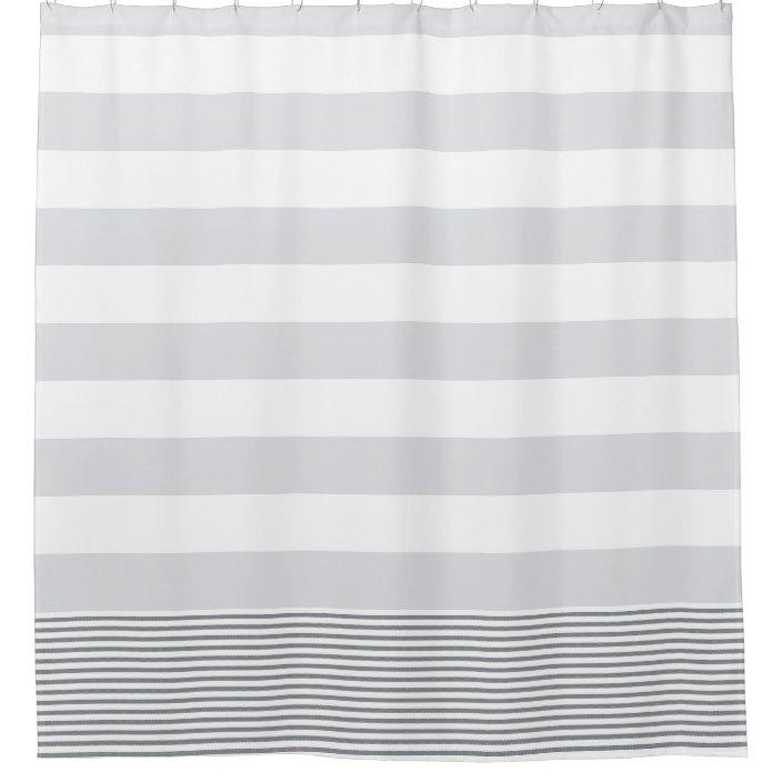 blue gray turkish stripe shower curtain zazzle com