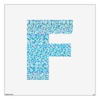 Large Letter Wall Decals & Wall Stickers | Zazzle