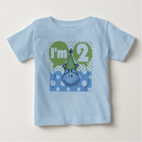 Blue Hippo 2nd Birthday Baby T-Shirt