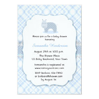 Blue Hippo, Baby Shower Card