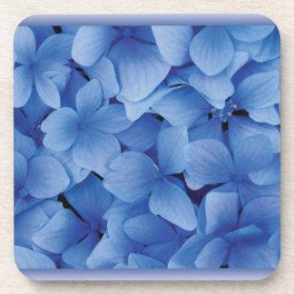 Blue Hydrangea Blossoms Beverage Coasters