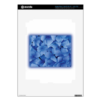 Blue Hydrangea Blossoms Decals For iPad 3