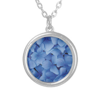 Blue Hydrangea Blossoms Necklaces