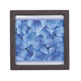 Blue Hydrangea Blossoms Premium Keepsake Box