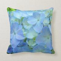 Blue Hydrangea Flowers Pillows thow pillow Floral | Zazzle