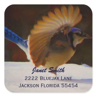 Blue Jay Address Sticker sticker