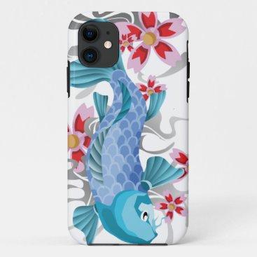 Blue Koi Fish iPhone 11 Case