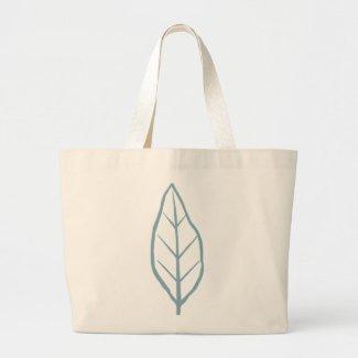 Blue Leaf Jumbo Tote Bag