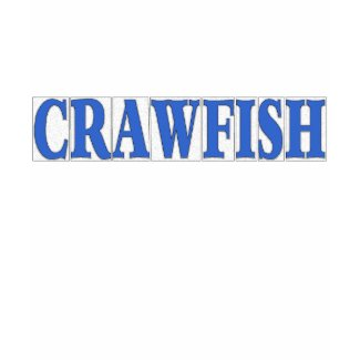 Blue Letter Tiles, Crawfish shirt