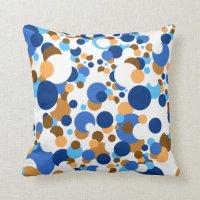 Orange And Blue Decorative Pillows ...