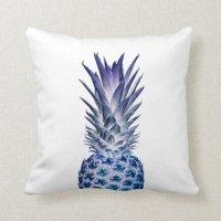 Blue Pineapple Throw Pillow | Zazzle