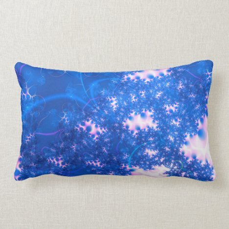 Blue Pink Delicate Cosmic Growth, Osmosis Abstract Lumbar Pillow