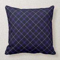 Blue Plaid / Tartan Throw Pillow | Zazzle