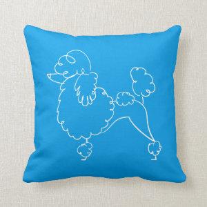 Blue Poodle Doodle Pillow