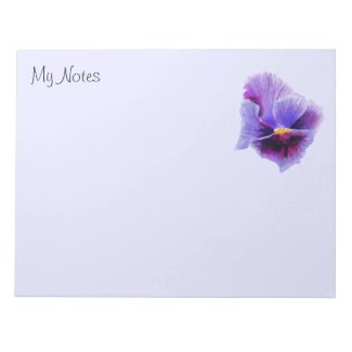 Blue purple pansy Notepad