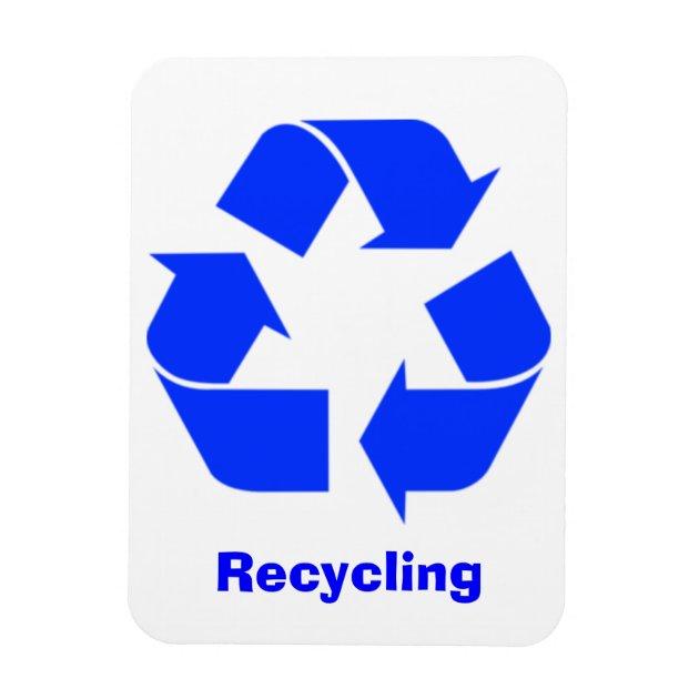 Blue Recycling Sign Magnet  Zazzlecom