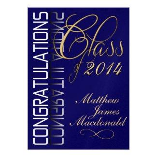 Celebration invitations trendy invitations for any celebration blue reflection formal graduation party invitation filmwisefo Gallery