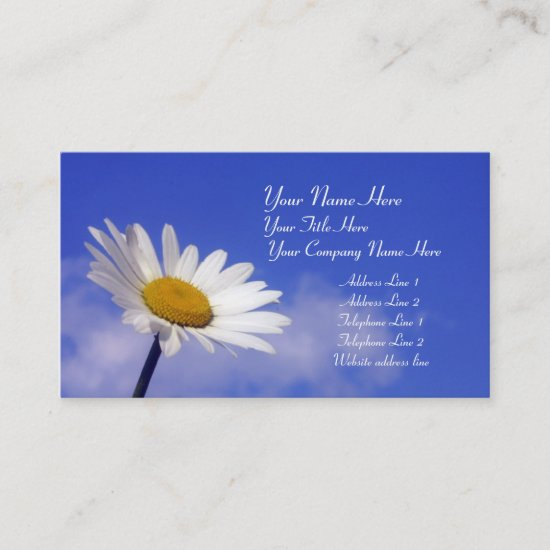 Blue Sky Daisy Business Card