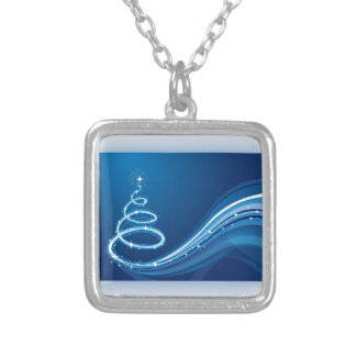 Blue Swirl Christmas Tree Pendant