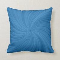 Blue Swirl Designer Decorative Pillow | Zazzle