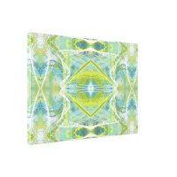 Blue, Teal and Green Abstract Wall Art II | Zazzle