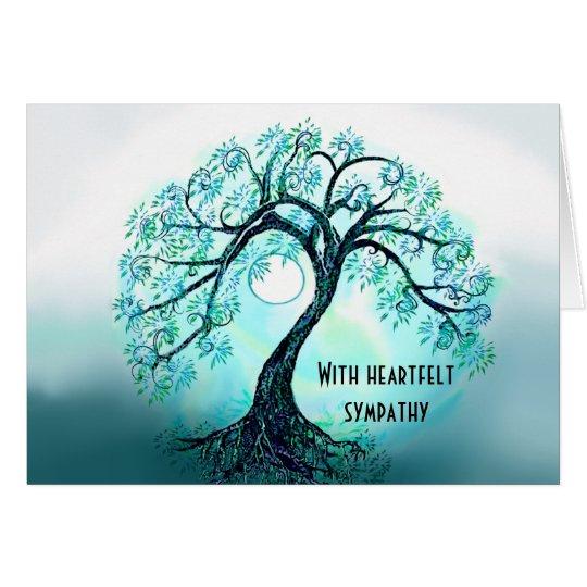 Blue Tree of Life Sympathy card Zazzlecom