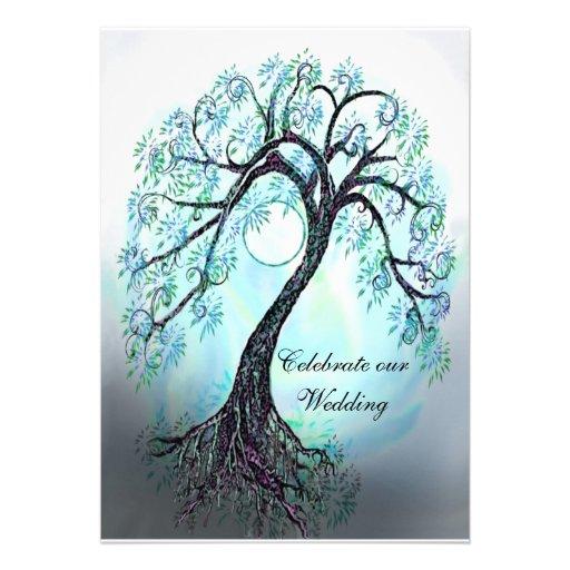 Blue Tree of Life Wedding Invitation 5quot X 7quot Invitation