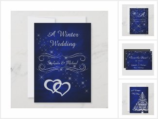 Blue Winter Wedding