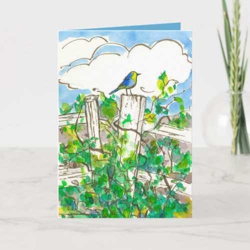 Bluebird Brambles Thinking of You Card