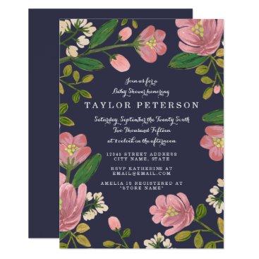 Blush Bouquet Baby Shower Card