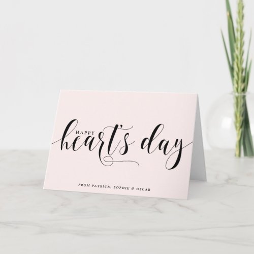 Blush Happy Heart's Day Script | Valentine's Day Holiday Card