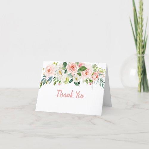 Blush Pink Floral Bridal Shower Thank You