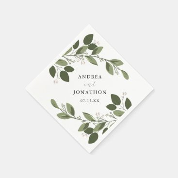 Blushing Sprigs Wedding Napkins