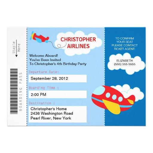 personalized airplane party invitations custominvitations4u com