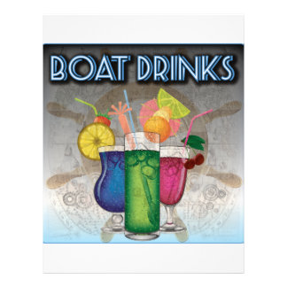 Boat Drinks Personalized Letterhead